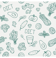 Vegetables seamless pattern Healthy eating vector image vector image