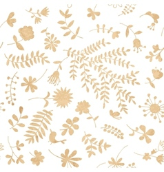 Vintage floral seamless pattern for your design vector image vector image