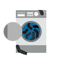 Washing machine and socks vector image