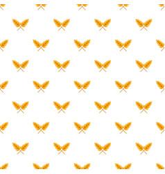 Wheat pattern seamless vector