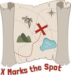 X marks spot vector