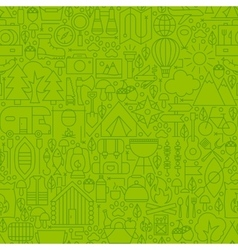 Adventure camping line tile pattern vector