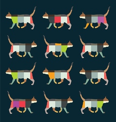 Fun cats pattern vector