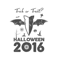 Happy halloween 2016 poster or poster trick ot vector
