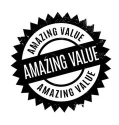Amazing value rubber stamp vector
