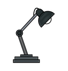 drawing desk lamp ornament light decoration vector image