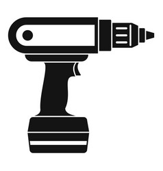 Electric screwdriver drill icon simple vector
