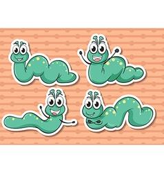 Worm set vector image