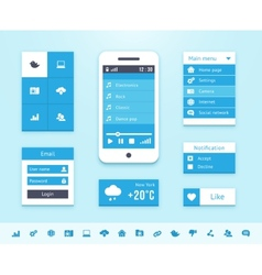 Mobile os ui interface elements vector