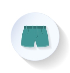 Shorts flat icon vector