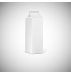 Blank grey juice or milk packaging vector image