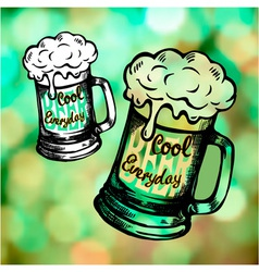 Irish holiday green beer spirit vector