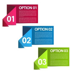 Infographics option banners vector
