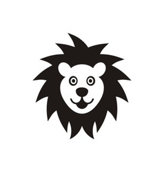 Lion face icon vector