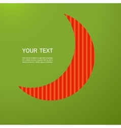 Abstract red moon on a green background vector