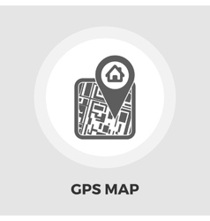 Gps map flat icon vector
