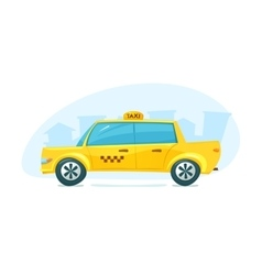 The yellow taxi vector