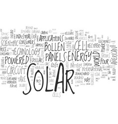 A curious tale about solar panels text word cloud vector