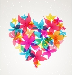 Abstract heart with flowers vector image vector image