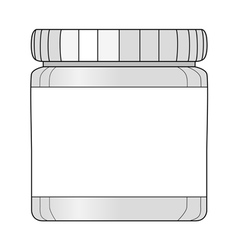 bottle of medicines vector image vector image