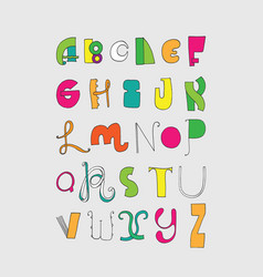 bright letters sequence from a to z bright vector image vector image
