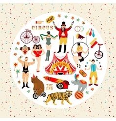 Circus collection vector image vector image