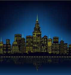 City lights cityscape vector image