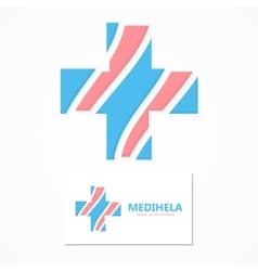 cross medical logo vector image