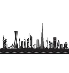 Dubai cityscape by day vector image