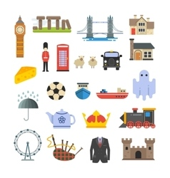 England british uk landmarks set vector image vector image