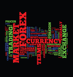 First steps in forex text background word cloud vector
