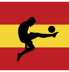 football player with Spanish flag vector image vector image