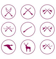 hunting shot gun icon vector image