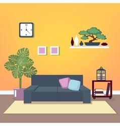 Modern Interior Living Room Design vector image