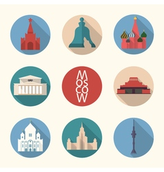 Moscow symbos icon set vector image vector image