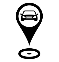 Parking sign with car vector