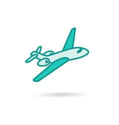 plane modern icon vector image