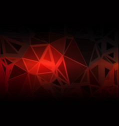Red brown black random sizes low poly background vector
