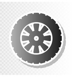 Road tire sign new year blackish icon on vector