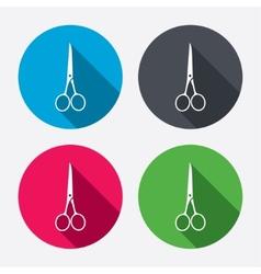 Scissors hairdresser closed icon tailor symbol vector