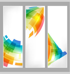 set tech banners with abstract business symbol vector image vector image