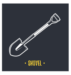 shovel vector image