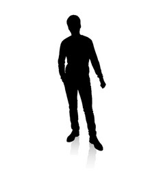 Silhouette of man vector