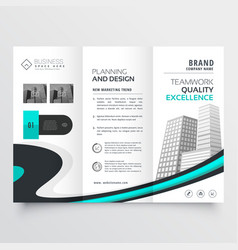 Stylish trifold brochure design presentation vector