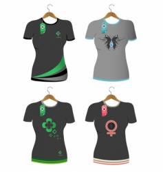 t-shirts set vector image vector image