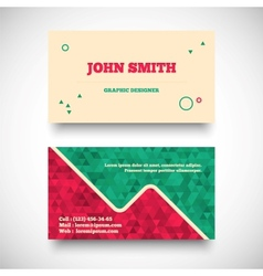 vintage business card set vector image vector image