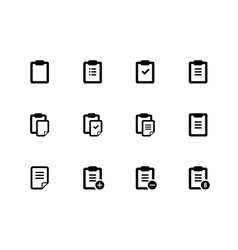 Clipboard icons on white background vector