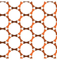 Repeating bones in circles seamless pattern vector