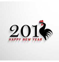 2017 Happy New Year with creative rooster concept vector image