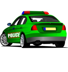 al 0505 police car1 vector image